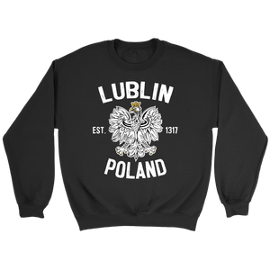 Lublin Poland - Crewneck Sweatshirt / Black / S - Polish Shirt Store