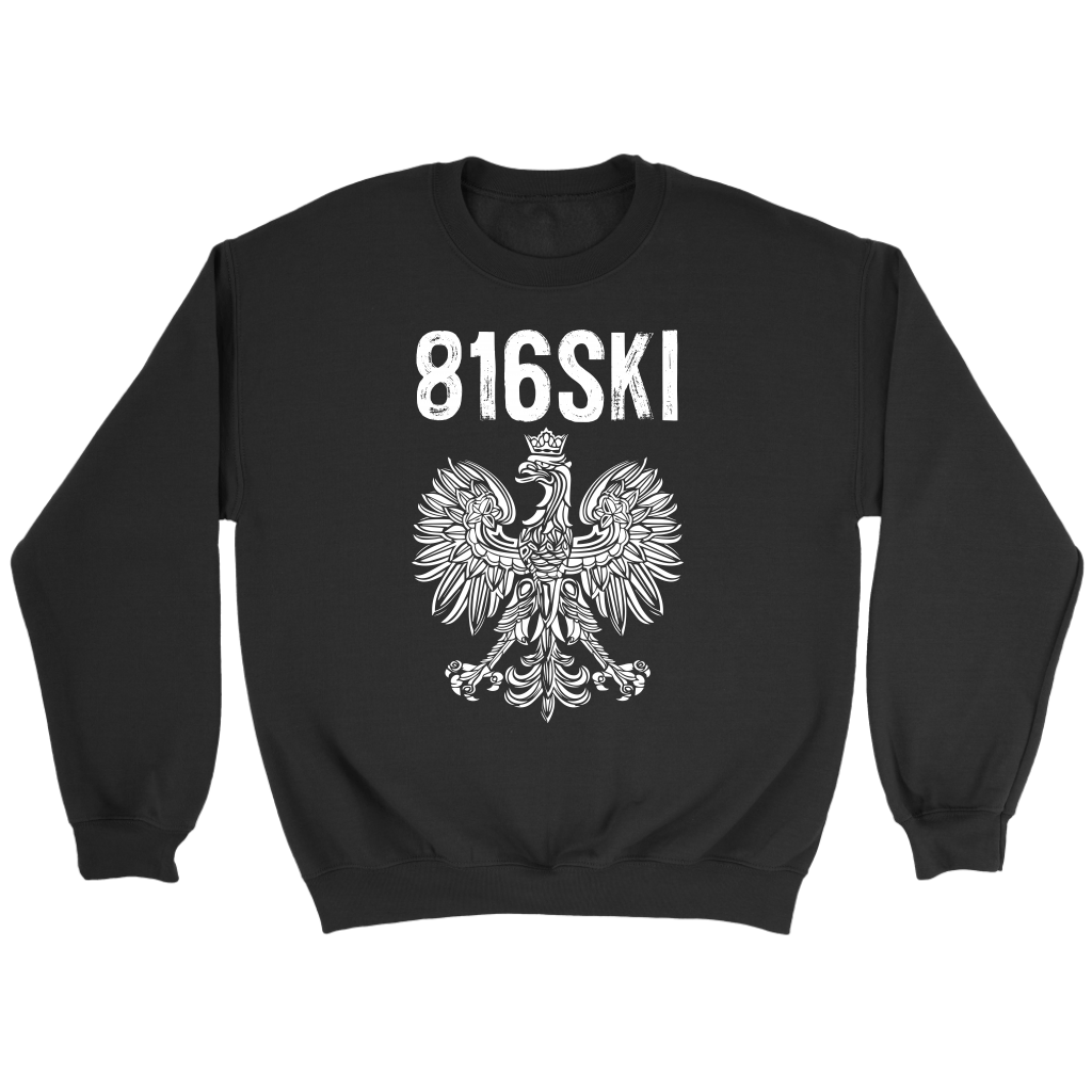 816SKI Missouri Polish Pride - Crewneck Sweatshirt / Black / S - Polish Shirt Store