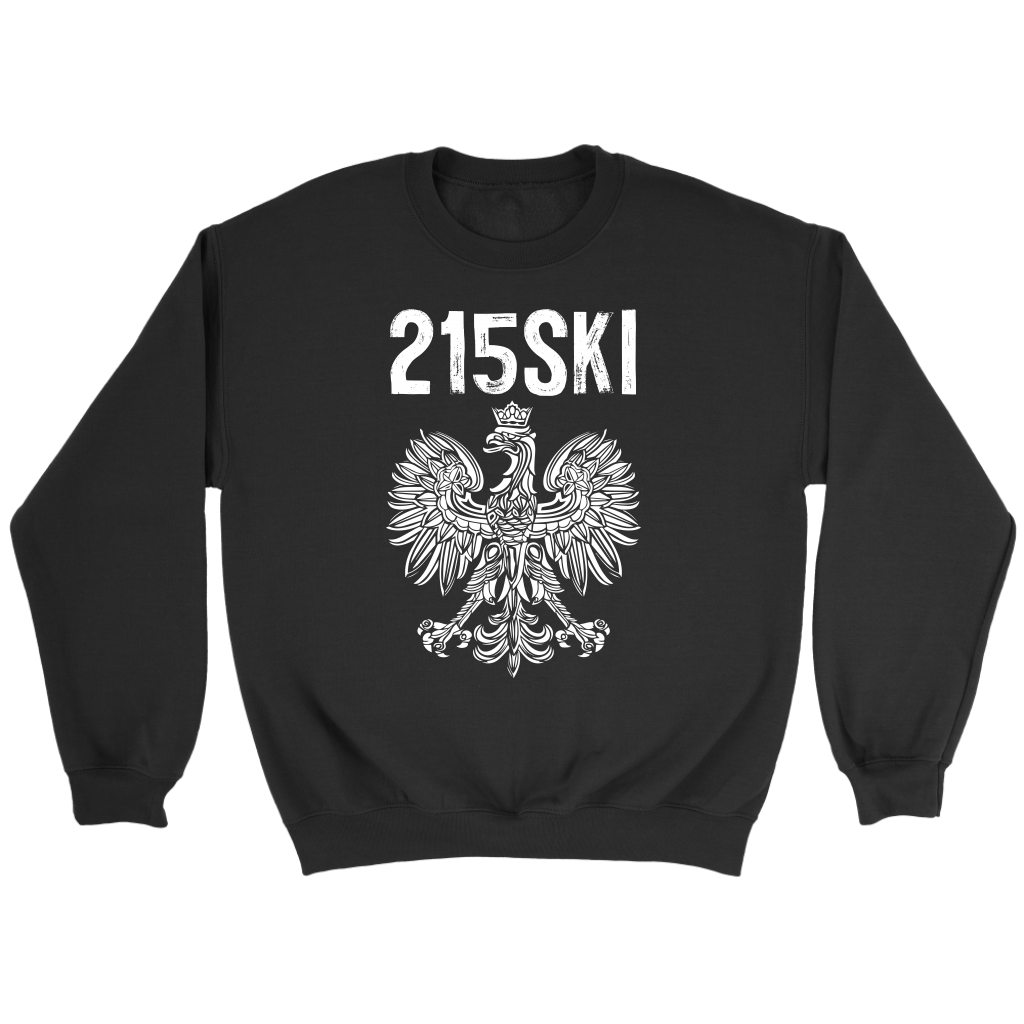 215SKI Pennsylvania Polish Pride - Crewneck Sweatshirt / Black / S - Polish Shirt Store