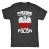 Awesome Is A Side Effect Of Being Polish - Next Level Mens Triblend / Vintage Black / S - Polish Shirt Store