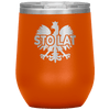 Sto Lat Polish Wine Tumbler - Orange - Polish Shirt Store