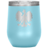 Polish Eagle Insulated Wine Tumbler With Lid - Light Blue - Polish Shirt Store