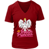 Polish Princess t shirts - District Womens V-Neck / Red / S - Polish Shirt Store