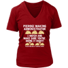Pierogi Making Administrator - District Womens V-Neck / Red / S - Polish Shirt Store