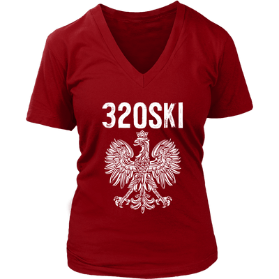 St Cloud Minnesota Polish American Pride - District Womens V-Neck / Red / S - Polish Shirt Store