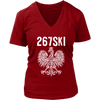 Philadelphia Pennsylvania Polish Pride - District Womens V-Neck / Red / S - Polish Shirt Store