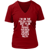 Polish Food Diet Plan - District Womens V-Neck / Red / S - Polish Shirt Store