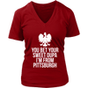 Pittsburgh Polish Shirt - District Womens V-Neck / Red / S - Polish Shirt Store