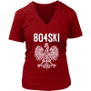 804SKI Virginia Polish Pride - District Womens V-Neck / Red / S - Polish Shirt Store