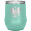 Polish Eagle Insulated Wine Tumbler With Lid - Teal - Polish Shirt Store