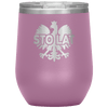 Sto Lat Polish Wine Tumbler - Light Purple - Polish Shirt Store