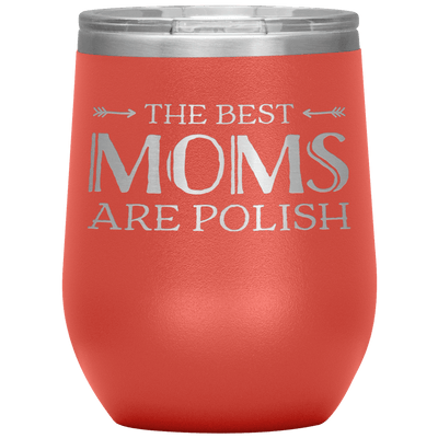 Polish Mothers Day Wine Tumbler Gift - Coral - Polish Shirt Store