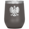 Polish Eagle Insulated Wine Tumbler With Lid - Pewter - Polish Shirt Store