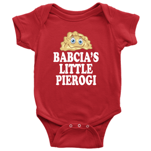 Babcia's Little PIerogi - Baby Onesie / Red / NB - Polish Shirt Store