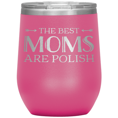 Polish Mothers Day Wine Tumbler Gift - Pink - Polish Shirt Store