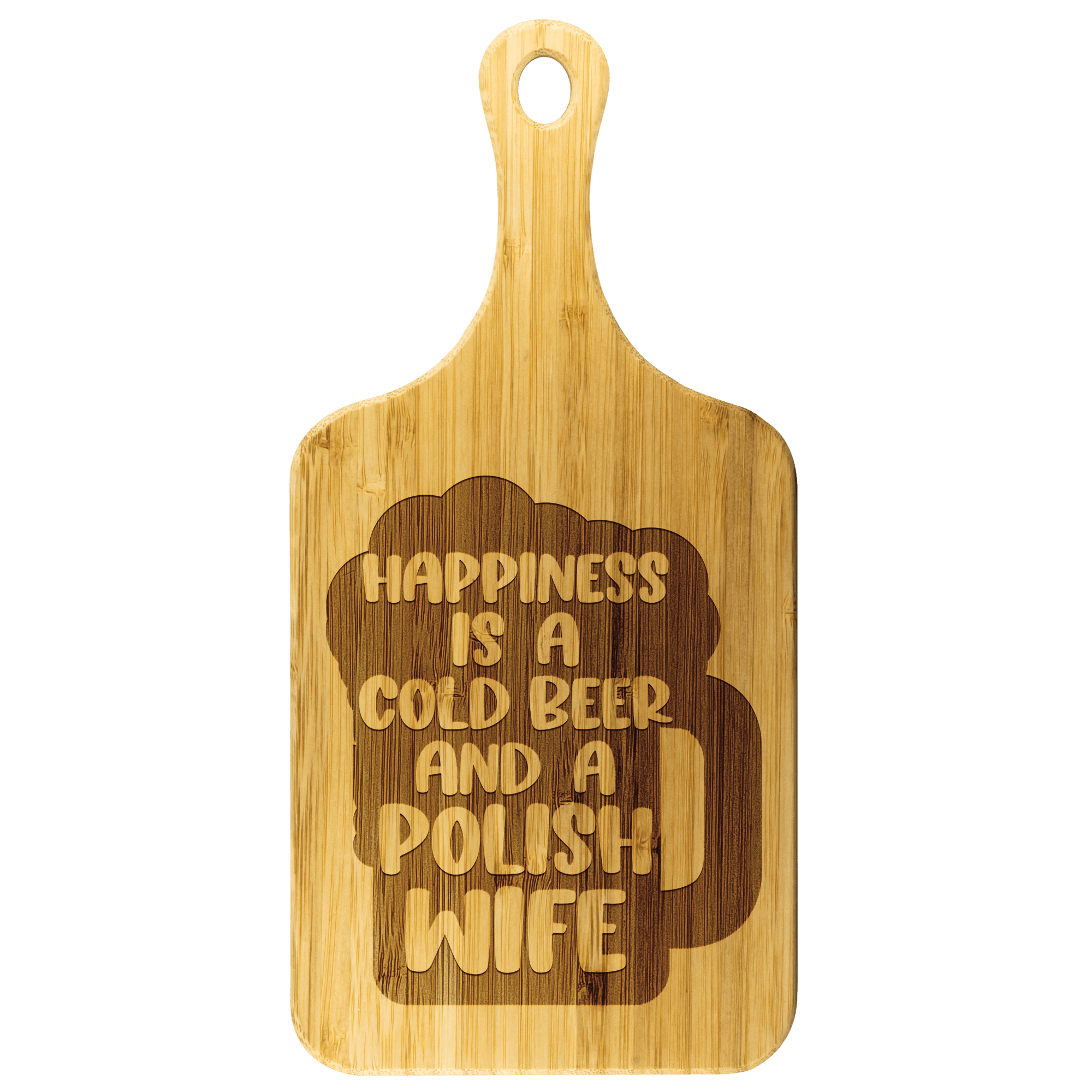 "Cold Polish Beer And Polish Wife Bar Cutting Board - Small - 11.5""x5.5"" - Polish Shirt Store"