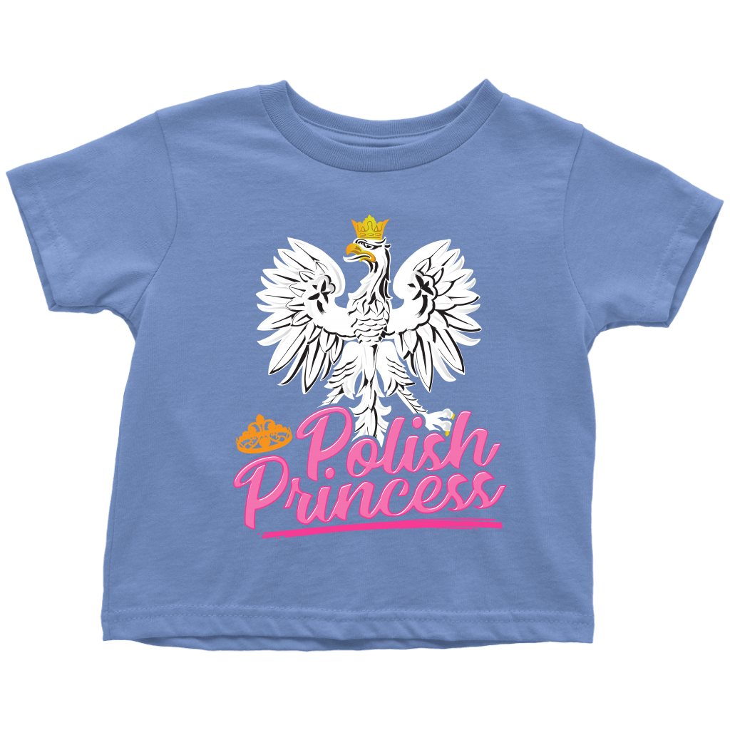 Polish Princess Toddler T-Shirt - Toddler T-Shirt / Baby Blue / 2T - Polish Shirt Store