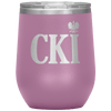 Polish Surname Ending in CKI Wine Tumbler - Light Purple - Polish Shirt Store