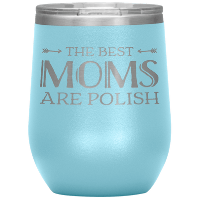 Polish Mothers Day Wine Tumbler Gift - Light Blue - Polish Shirt Store