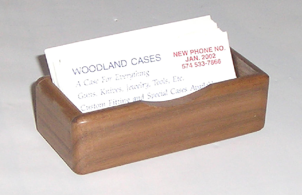 Business card holder-standard.  Shown in walnut