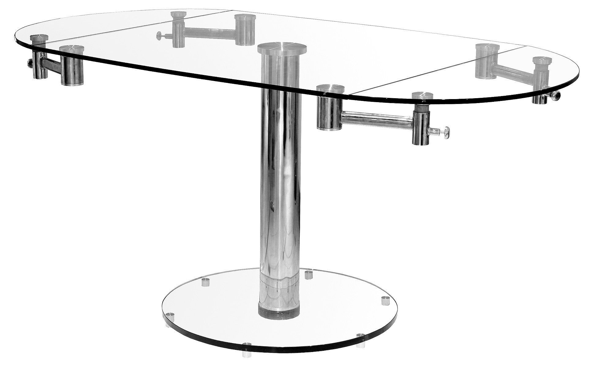 Glass Extending Cool Expandable Round Dining Table Glass Extending ...
