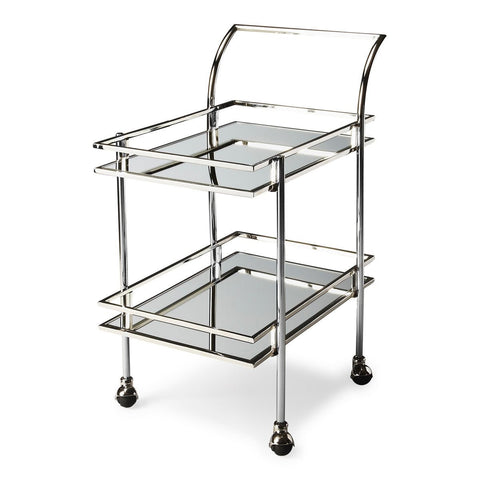 Butler Contemporary Gatsby Bar Cart - Bar Wheels Serving Carts