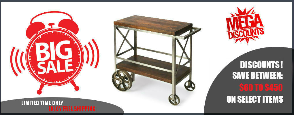 Mobile Bar and Serving Carts On Sale Now