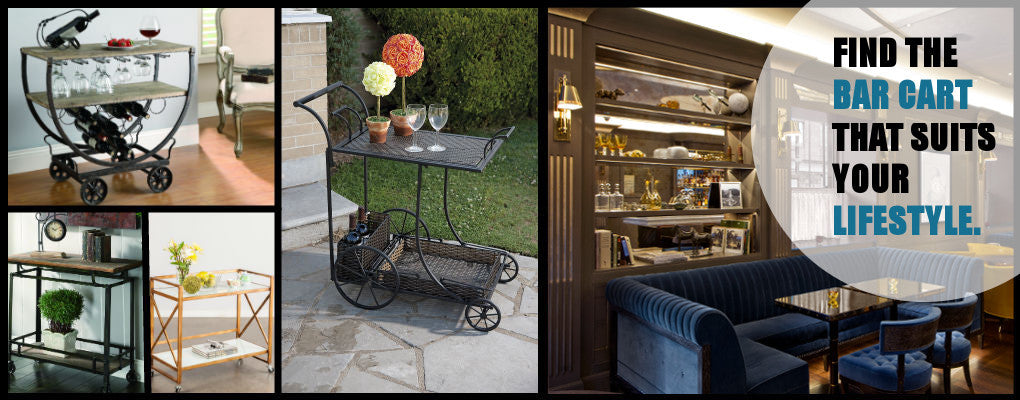 Mobile Bar and Serving Cart Styles