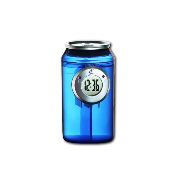 Blue H2O Powered Can Clock