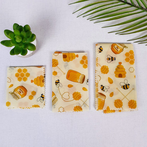 Natural Beeswax Sandwich Wrap Set