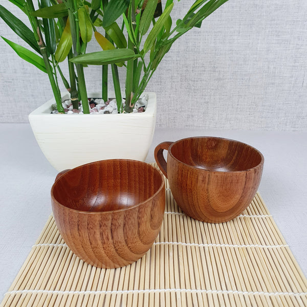 Reusable Bamboo Tea/Coffee Cups - Set of 2