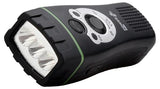 PowerPlus Wolf Torch - Wind Up, FM Radio & Rechargeable