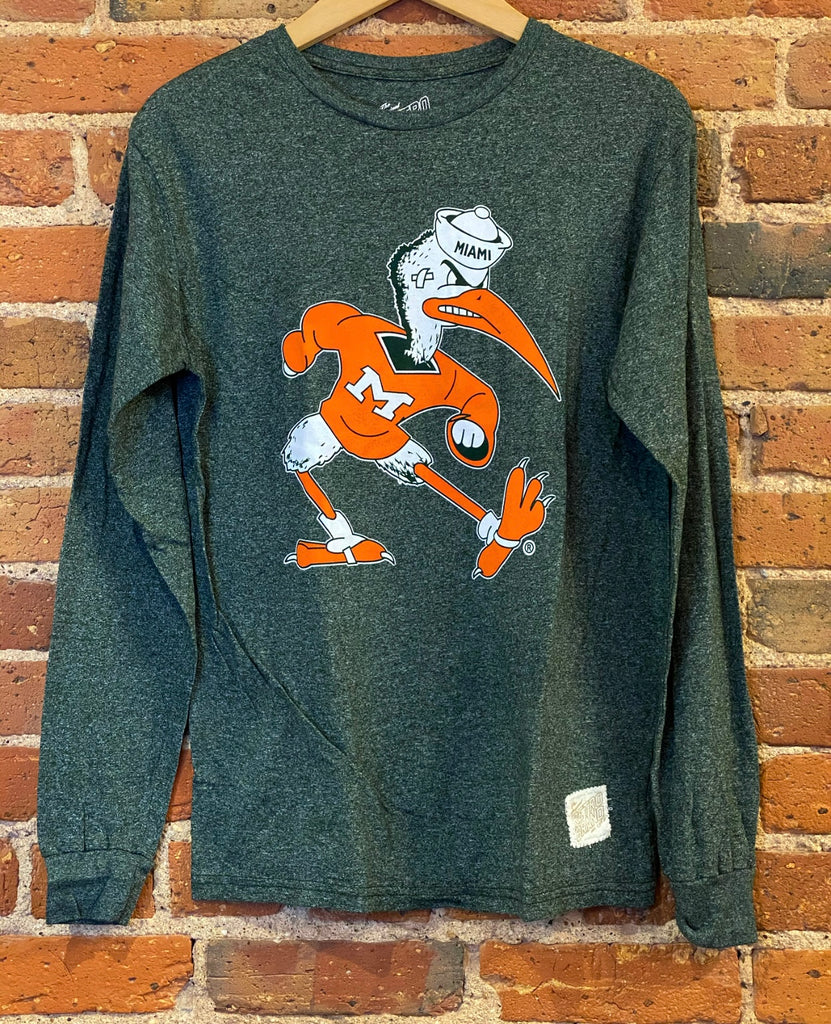 Miami Hurricanes Long Sleeve Retro Brand Shirt