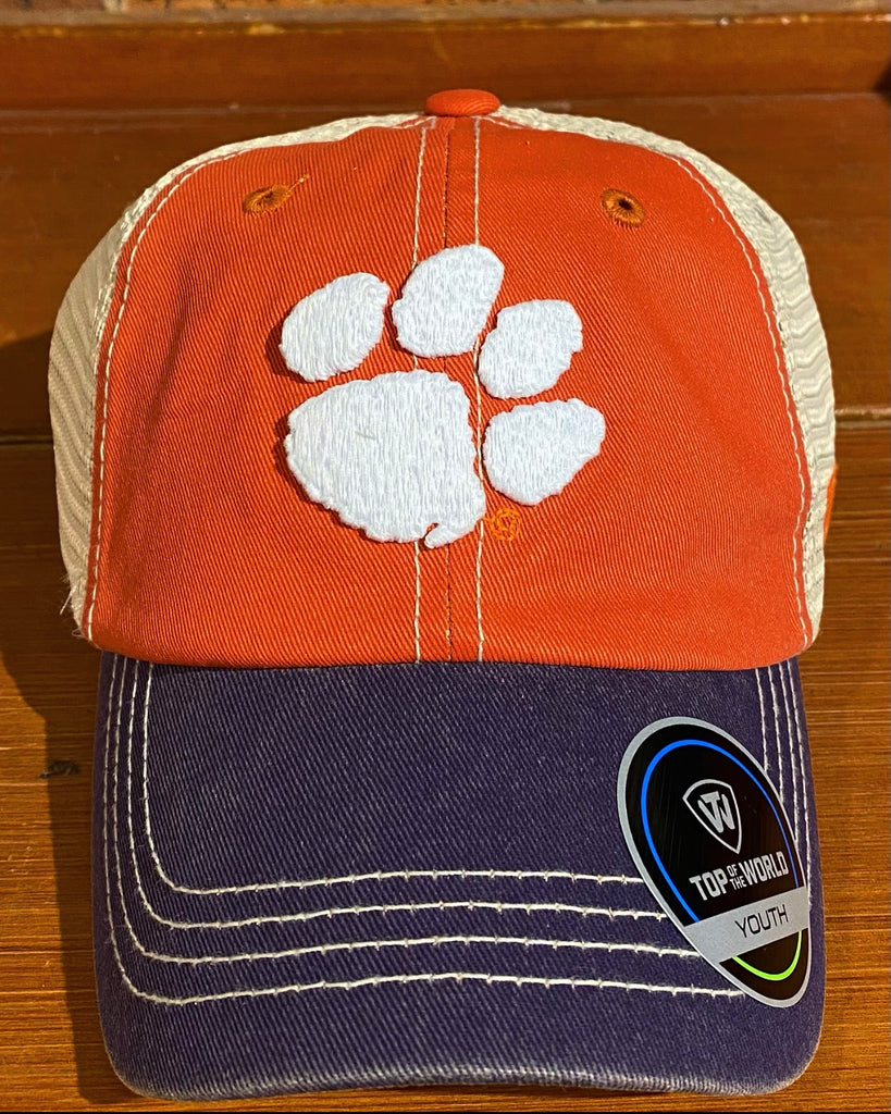 Youth Clemson Tigers Top of World Hat