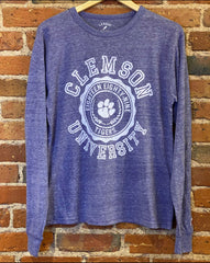 Clemson Long Sleeve League Brand Shirt