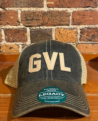 "Greenville ""GVL"" Legacy Old Favorite Trucker Hat-black"