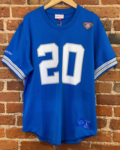 Barry Sanders Mesh Crewneck Mitchell & Ness Jersey