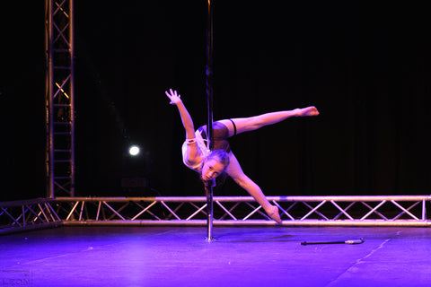 Janne Jacobs Kids during Dutch Pole dance championship Nederlands Kampioenschap Paalsport Paaldansen voor kinderen