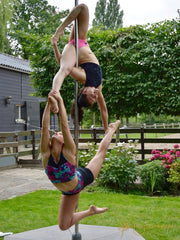 fat duo polemove at the Netherlands's nicest pole dancing camp: Flexmonkey summer event