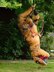 poledancing dino at Flexmonkey summer event in aerial hoop