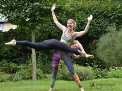 the most fun acro yoga workshop in the Netherlands at the flexmonkey summer event