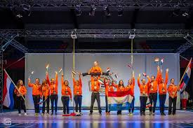 The Dutch team of pole athletes during the World Championships Paalsport in Tarragona Spain 2018