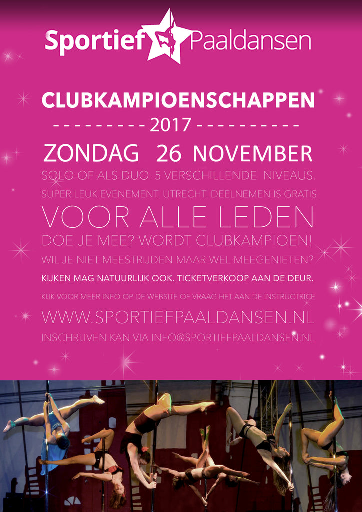 Sporty pole dancing students receive a discount on pole dance clothing and dance poles at flexmonkey.nl