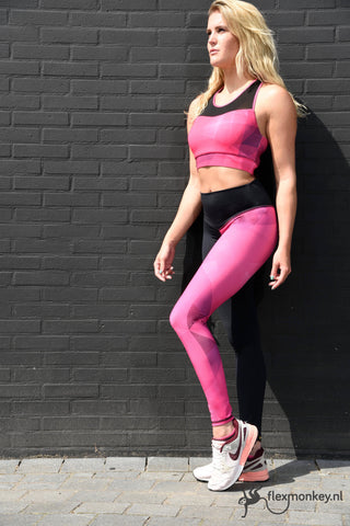 Flexmonkey leggings - Pink Diamond - Flexmonkey Polewear