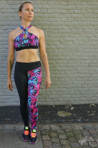 Flexmonkey Leggings- Flower (laag) - Flexmonkey Polewear