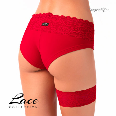 Polewear with lace, short met kant (Dragonfly) - Flexmonkey Polewear