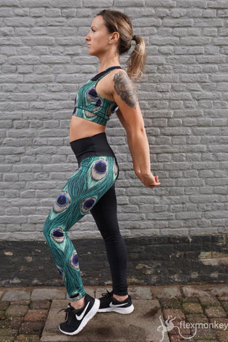 Flexmonkey Leggings - kindermaat Peacock - Flexmonkey Polewear