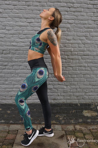 Flexmonkey Leggings - Peacock Pride - Flexmonkey Polewear