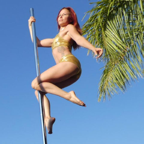 Dragonfly GOLD Lisette Top - Flexmonkey Polewear