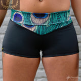 Flexmonkey fold over short 'Peacock' * LIMITED EDITION * - Flexmonkey Polewear